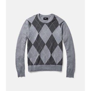 Argyle Crewneck Sweater - JackSpade
