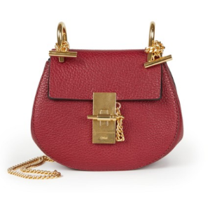 Drew Nano Leather Saddle Crossbody Bag by Chloé