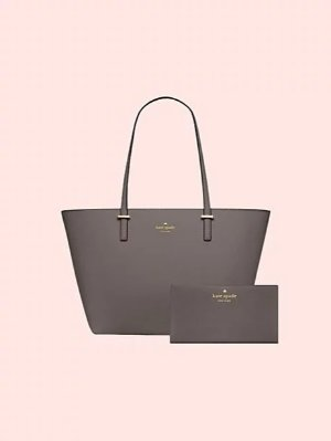 Today only! $199 + Free Shipping Cedar Street Handbag + Wallet Set In Cliff Grey @ kate spade