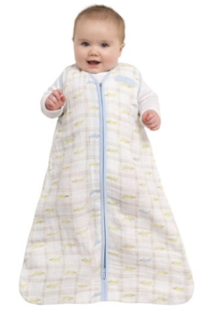 HALO 100% Cotton Muslin Sleepsack Wearable Blanket, Gator Plaid, Medium