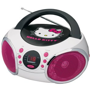 Hello Kitty Portable AM/FM Stereo CD Boombox