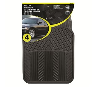$10(reg.$19.99) Pilot Automotive All Season 4 pc. Rubber Floor Mat Set - Black