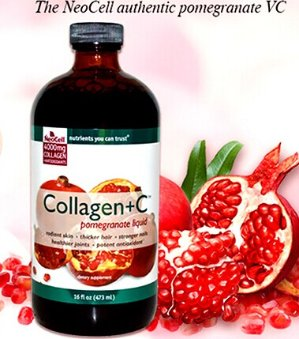 NeoCell Super Collagen+C Type 1&3 Pomegranate Liquid 16oz