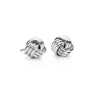 Large Love Knot Earrings in Sterling Silver | Blue Nile