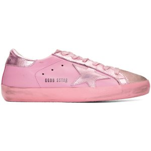 Golden Goose: Pink Mononochromatic Superstar Sneakers