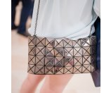 Bao Bao Issey Miyake Prism Basic Faux Patent Leather Chain Shoulder Bag