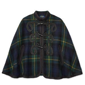 Tartan Wool-Blend Cape - Outerwear � Outerwear & Jackets - RalphLauren.com