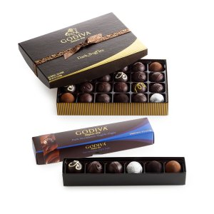 Dark Chocolate Truffle Lover's Gift Set | GODIVA