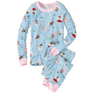 Kids Long John Pajamas In Organic Cotton | Sale Girls Sleepwear