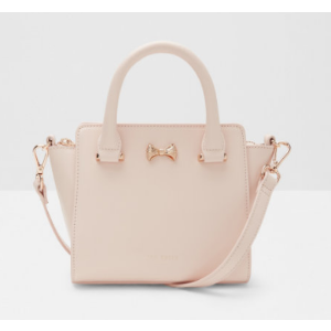 Micro bow tote bag - Pale Pink | Bags | Ted Baker