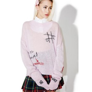 Wildfox Couture Girls Room Wordz Sweater | Dolls Kill