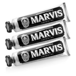 MARVIS AMARELLI LIQUORICE MINT TOOTHPASTE TRIPLE PACK (3 X 75ML)