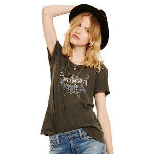 Draped Jersey Graphic Tee - Sale � Shirts & Tops - RalphLauren.com