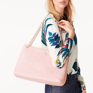 Marion Quilted Center-Zip Tote @ Tory Burch