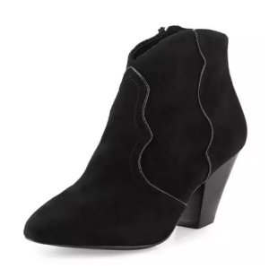 Ash Gang Suede Pointed-Toe Bootie