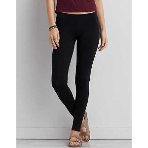 AEO Low Rise Solid Legging , Black | American Eagle Outfitters