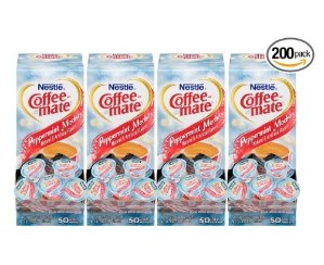$7.59 NESTLE COFFEE-MATE Coffee Creamer, Peppermint Mocha, 0.375oz liquid creamer singles, 50 count, Pack of 4