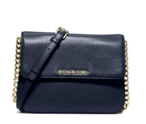Michael Michael Kors Bedford Double-Gusset Leather Crossbody Bag