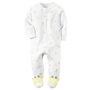 Baby Neutral Cotton Zip-Up Sleep & Play | Carters.com