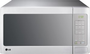 LG - 1.4 Cu. Ft. Mid-Size Microwave - Smooth White