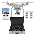 DJI Phantom 3 Professional Quadcopter Drone 4K Camera Dual Battery Flight Bundle