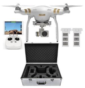 $874 DJI Phantom 3 Professional Quadcopter Drone 4K Camera Dual Battery Flight Bundle