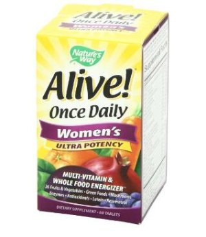 Nature's Way Alive Once Daily Women's Multi Ultra Potency Tablets 60-Count
