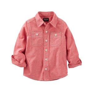 Kid Boy 2-Pocket Chambray Button-Front Shirt | OshKosh.com