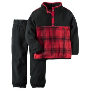 Baby Boy 2-Piece Fleece Pullover & Pant Set | Carters.com