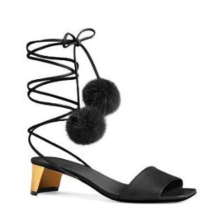 Gucci Heloise Pom Lace Up Sandals