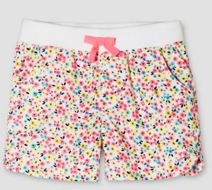 $2.10 Toddler Girls' Twill Floral Chino Short Pink