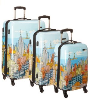 Extra 30% Off Samsonite Luggage NYC Cityscapes 3 Piece Set 20/24/28