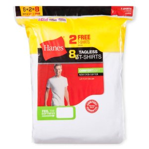 $19.48 16 Hanes Tagless White Men's Crew Tee