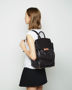 Alexander Wang  Black & Rose Gold Mini Prisma Backpack