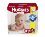 Amazon.com: Huggies Snug & Dry Diapers, Size 2, 246 Count (One Month Supply): Health & Personal Care