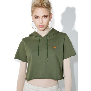 Diamond Supply Lustrous Cropped Hoodie | Dolls Kill
