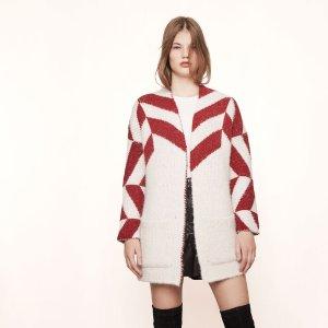 MILADY Oversize jacquard knit cardigan - Cardigans - Maje.com