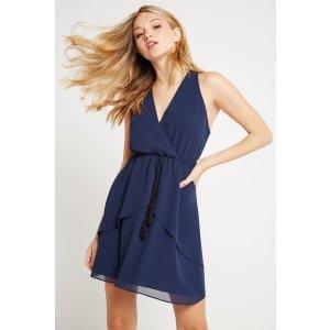 Tiered Skirt Halter Dress