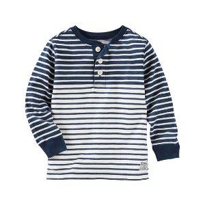 Kid Boy Striped Henley | OshKosh.com