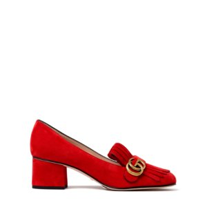 Gucci Marmont Fringe Suede 55mm Loafer