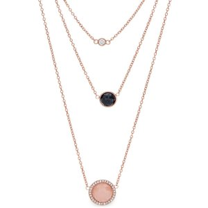 Gemstone Rose Gold-Tone Triple Pendant - Fossil