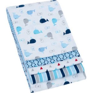 Garanimals 4-Pack Receiving Blankets, Blue