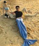$21.88 LAGHCAT Mermaid Tail Blanket