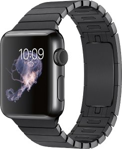Apple Watch (first-generation) 38mm Stainless Steel Case - Space Black Link Bracelet Band - Space Black Link Bracelet Band