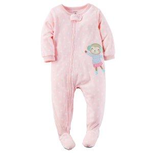 Toddler Girl 1-Piece Fleece PJs | Carters.com