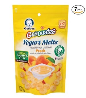 Gerber Graduates Yogurt Melts, Mixed Peach, 1 Ounce (Pack of 7)