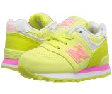 New Balance Kids State Fair 574 (Infant/Toddler) Yellow/Pink - 6pm.com