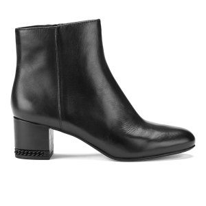 MICHAEL MICHAEL KORS Women's Sabrina Leather Mid Heeled Boots - Black - FREE UK Delivery