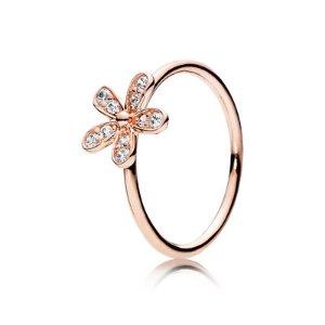 Dazzling Daisy, PANDORA Rose™ & Clear CZ - 180932CZ - Rings | PANDORA