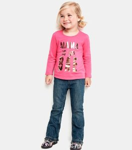 $7 & Under plus Free Shipping All Kids' long sleeve Graphic Tees @ Children's Place